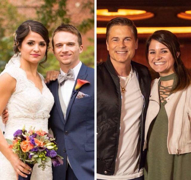 Встреча с Робом Лоу порадовала женщину больше, чем свадьба (2 фото)