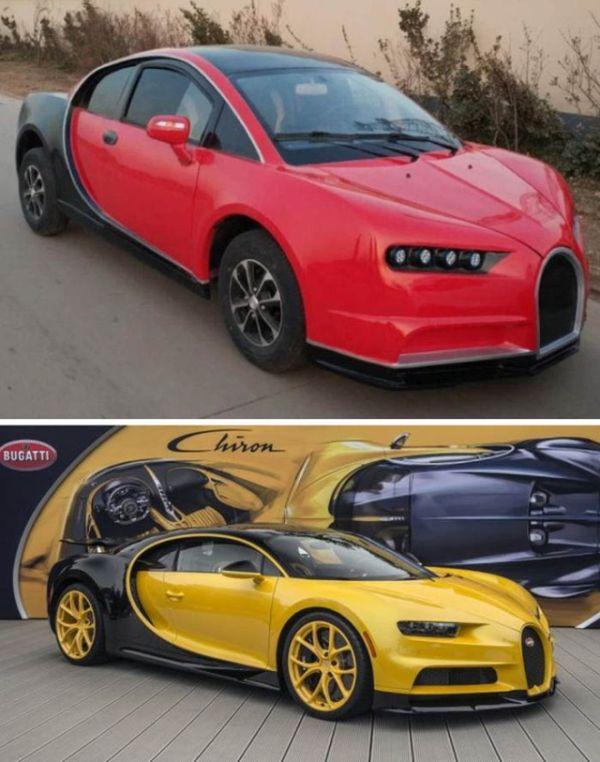 Китайцы выпустили электромобиль с дизайном Bugatti Chiron (6 фото)
