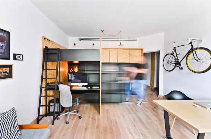 Квартира и студия площадью 37 квадратов в Польше (14 фото)