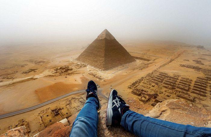 Руфер Андрей Чисельский забрался на Великую пирамиду в Гизе (3 фото)